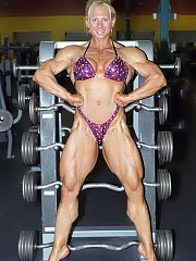 Sherry Smith poses in the gym