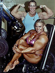 Muscles and female makes sexy.