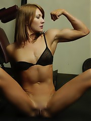 Dirty nude women bodybuilders and fitness models in hardcore muscle pumping action! Muscle models an...